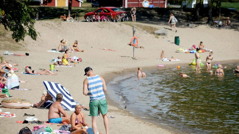 Finland saw a record temperature of 34.3C (93.7F) this week