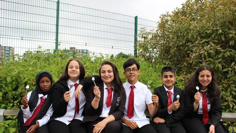 Students at the Leeds academy were given spoons as part of the educational program