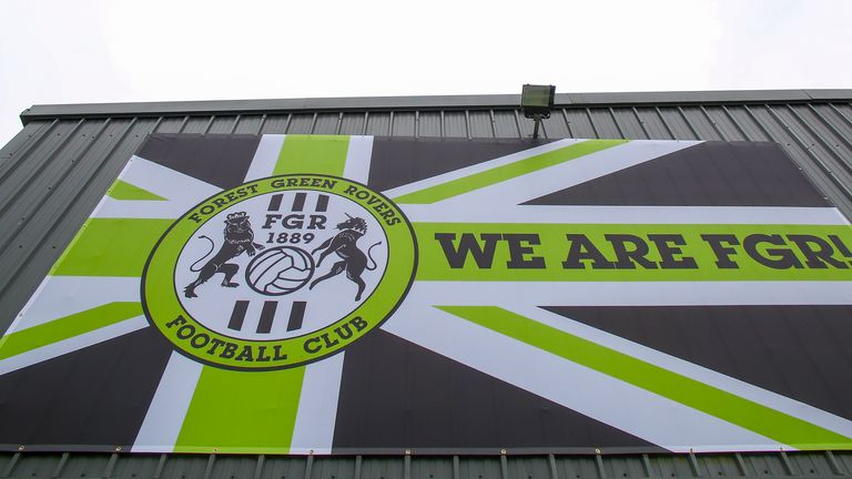 The New Lawn Stadium, the home football ground of Forest Green Rovers