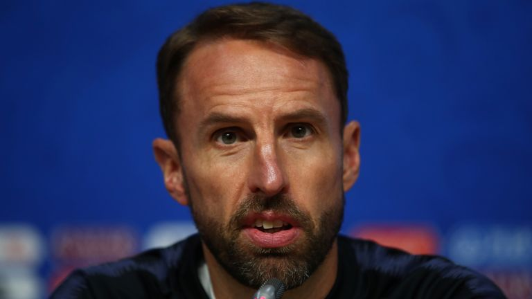 England manager Gareth Southgate during the press conference REUTERS/Michael Dalder