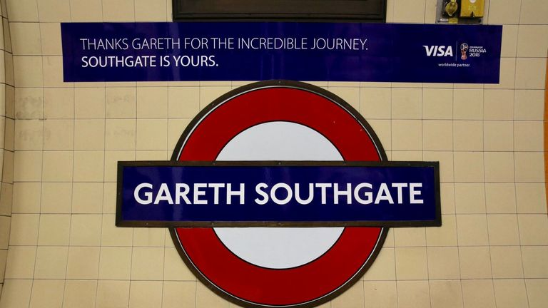 Southgate Underground station has been temporarily renamed. Pic: TFL