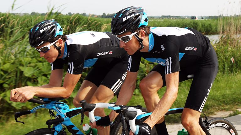 Thomas and Bradley Wiggins (right) were two of the first members of Team Sky