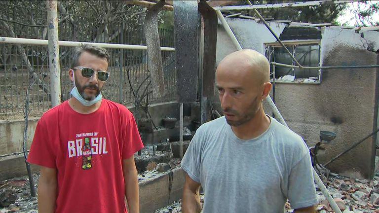 Alex rossi in Mati after greece fires