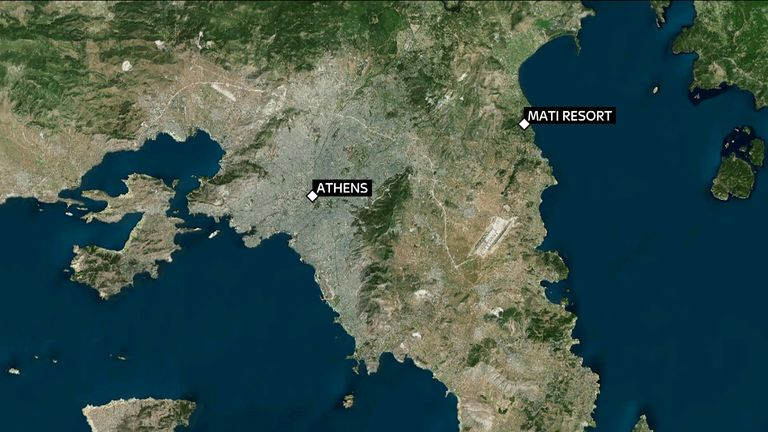 Rescue workers have said 26 people were found dead at a resort in the coastal town of Mati