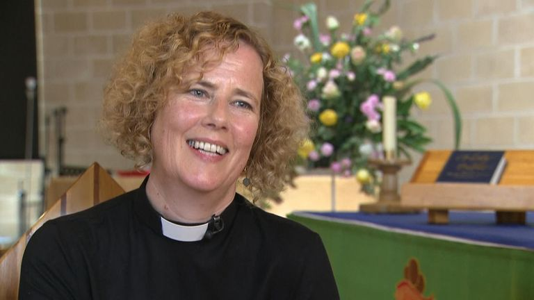 Reverend Margaret Cave has been using contactless for a year