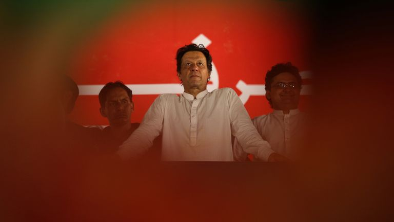 Imran Khan at election campaign rally