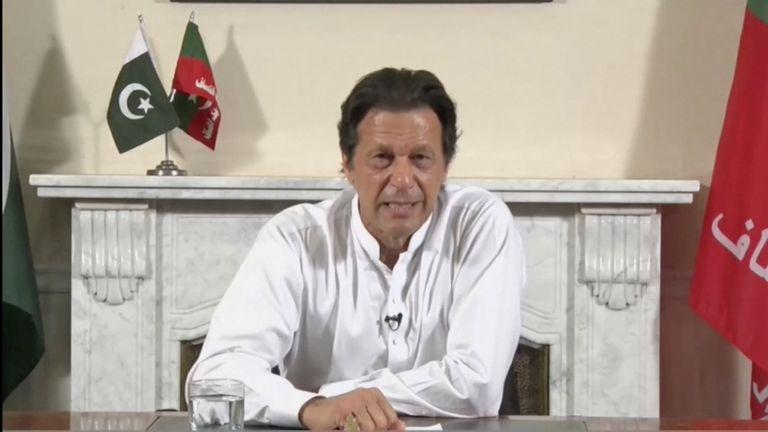 Imran Khan gives a live-televised address