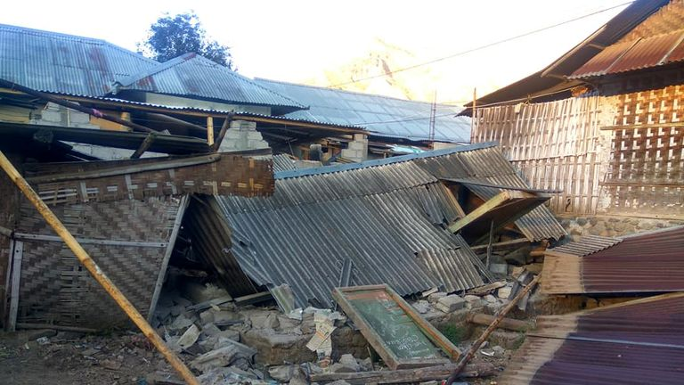Many single story buildings were damaged in the earthquake