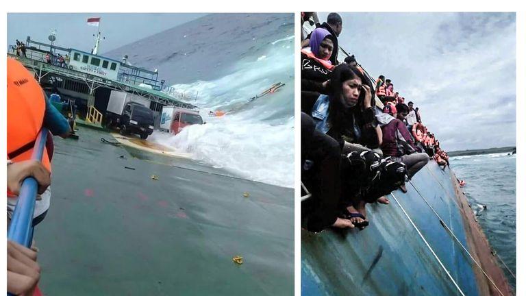 KM Lestari Maju boat sinks in the waters of Selayar island in Indonesia