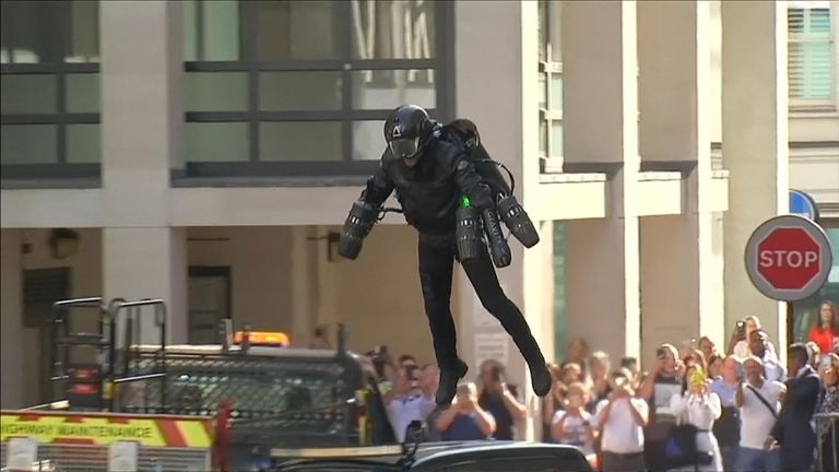 "Ever fancied a dab at being ""Iron Man""? Now you can. A jet suit created by a British former commodities trader has gone on sale in a London department store with a cool price tag of £340,000"
