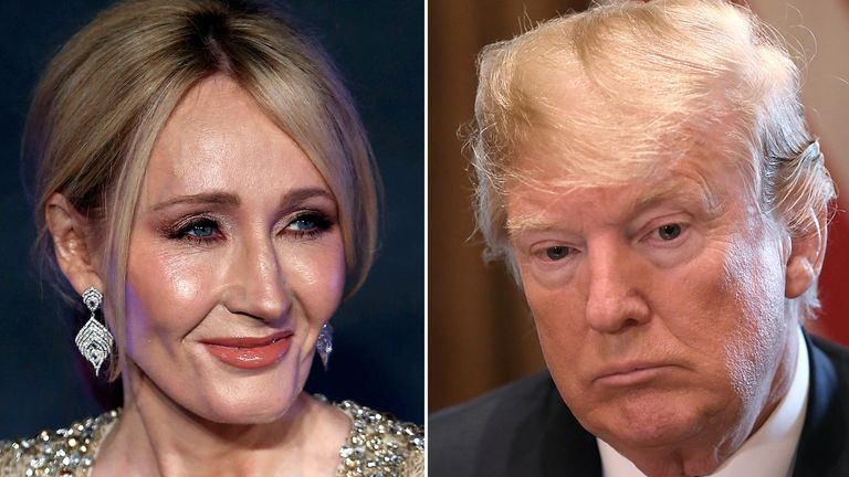 JK Rowling and Donald Trump