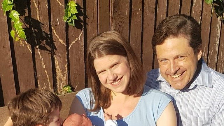 Jo Swinson MP and family