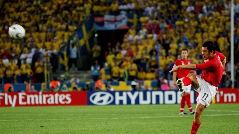 Joe Cole scored a famous long range effort against Sweden in the 2006 World Cup