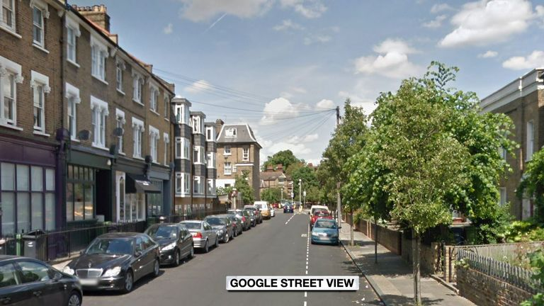 Google Street View of Denmark Road, Lambeth, south London. An 18-year-old man died of stab injuries after being left here by a moped driver