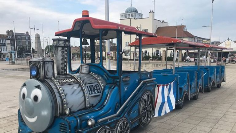 The land train which was stolen by burglers from Lowestoft seafront. Pic: Suffolk Police
