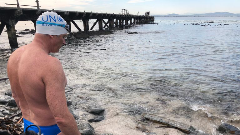 Training has involved several hours of cold-water swimming each day