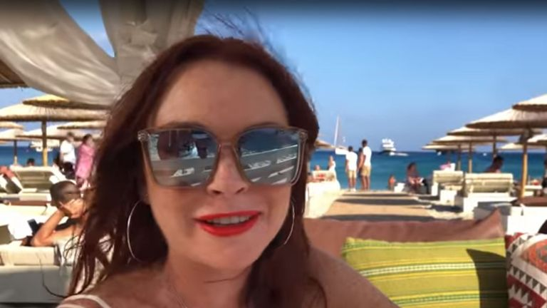 Lindsay Lohan tells fans: 'Pack your bags MTV, we're going to Mykonos'
