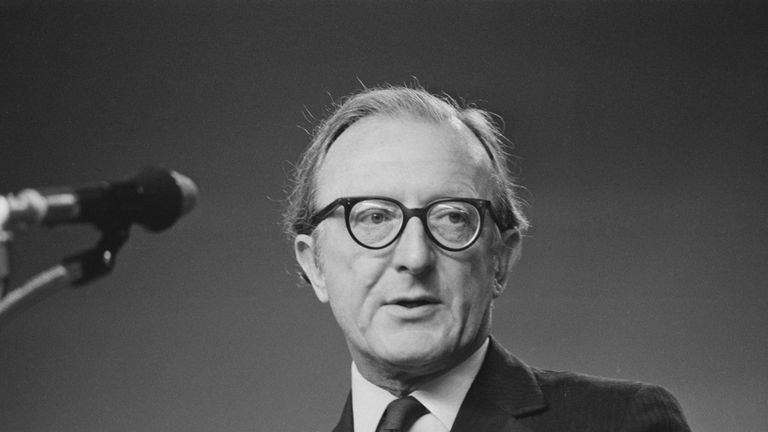 Lord Peter Carrington pictured in 1971