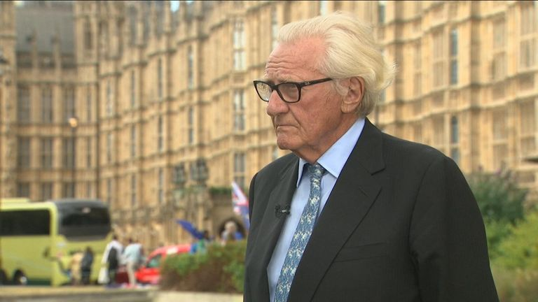 Lord Heseltine blast Boris Johnson as an opportunist and says his party has become divided.