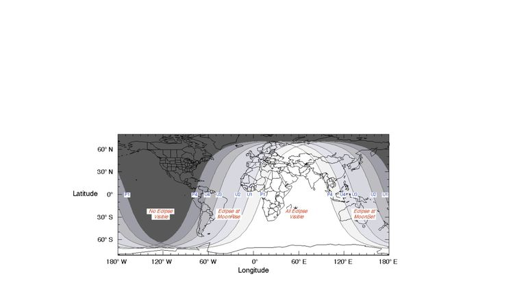 The visibility of the lunar eclipse. Pic: Piruliton