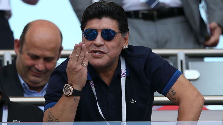 Maradona said the English 'threw themselves to the ground'