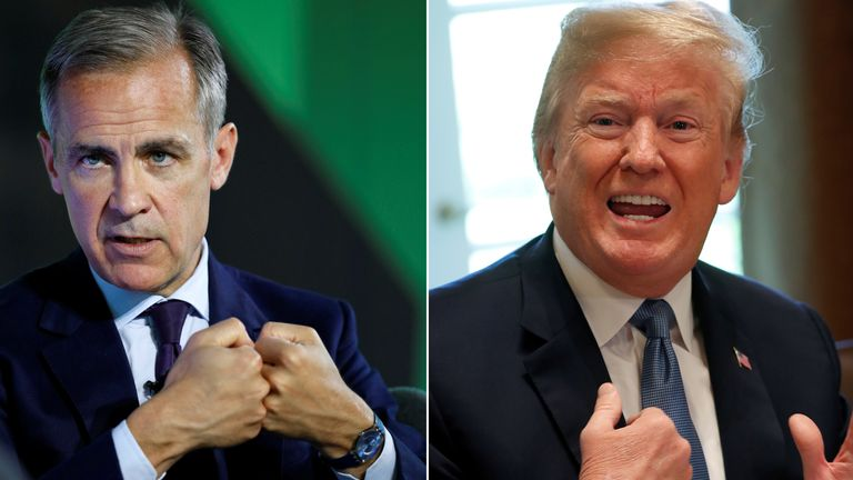 Mark Carney and Donald Trump