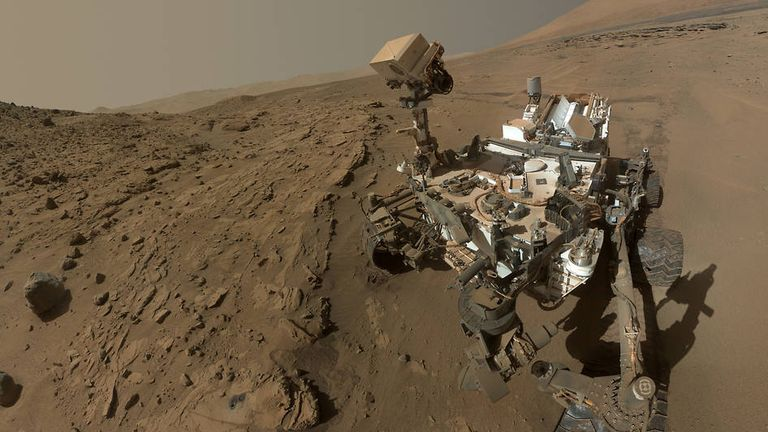 The Mars Curiosity rover takes a selfie