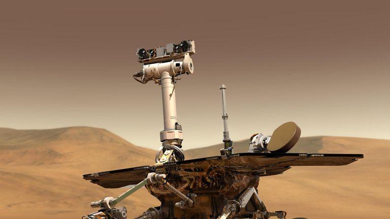 An artist impression of the Mars Spirit