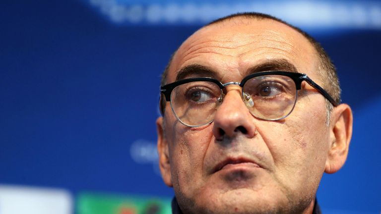 File photo dated 16-10-2017 of Maurizio Sarri. PRESS ASSOCIATION Photo. Issue date: Friday July 13, 2018. Conte, who is reportedly set to be replaced by former Napoli boss Maurizio Sarri, also led Chelsea to the 2016-17 Premier League title in his first season as boss. See PA story SOCCER Chelsea Latest. Photo credit should read Martin Rickett/PA Wire.