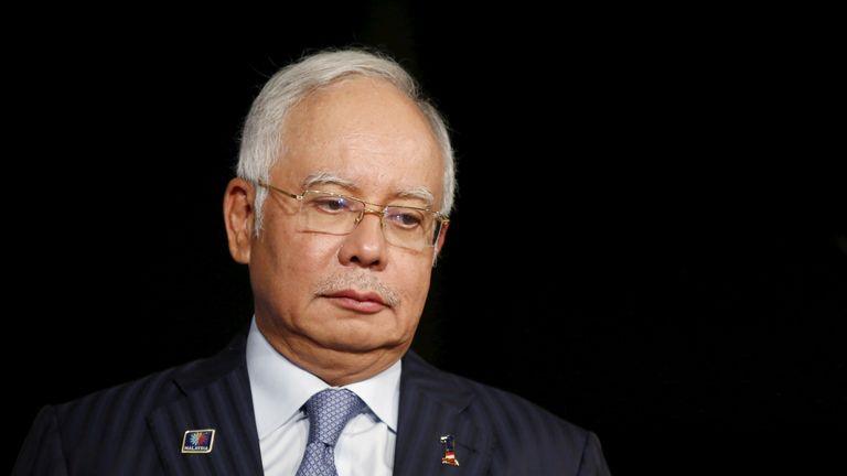 Former Malaysia prime minister Najib Razak