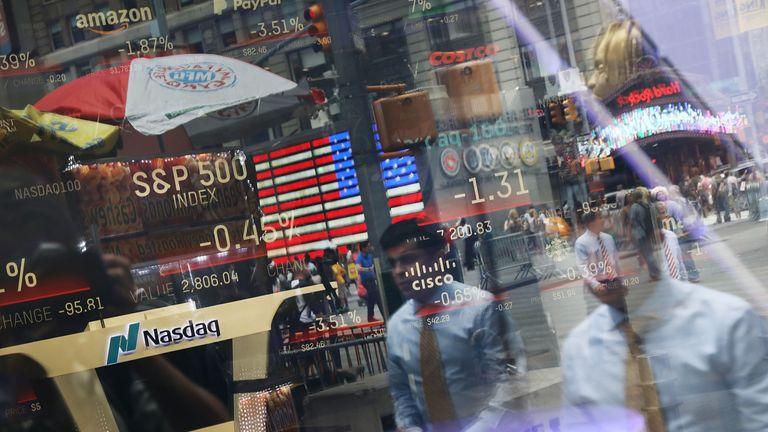 سایت Nasdaq MarketSites در میدان تایمز ، نیویورک است