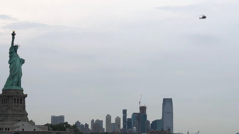 Liberty Island has been evacuated. Pic: @sarah_eyebrows