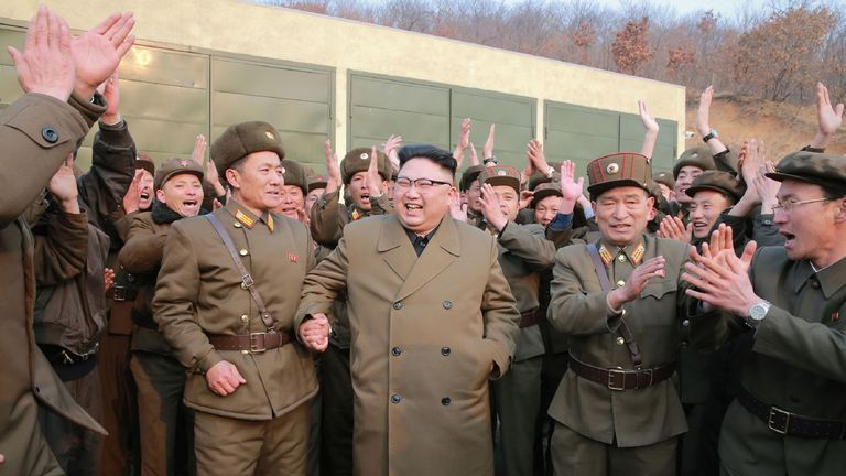 North Korea's leader Kim Jong Un inspects the Sohae Satellite Launching Ground in North Korea