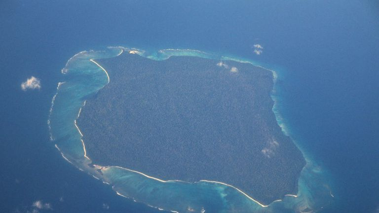 The remote North Sentinel Island