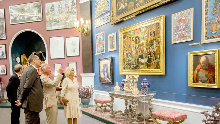 Prince Charles hand=picked more than 100 pieces for the collection Pic: Royal Collection Trust