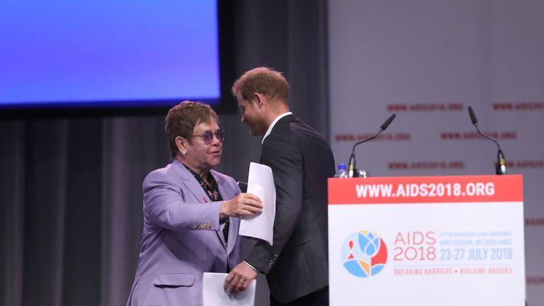 Elton John and the Duke of Sussex