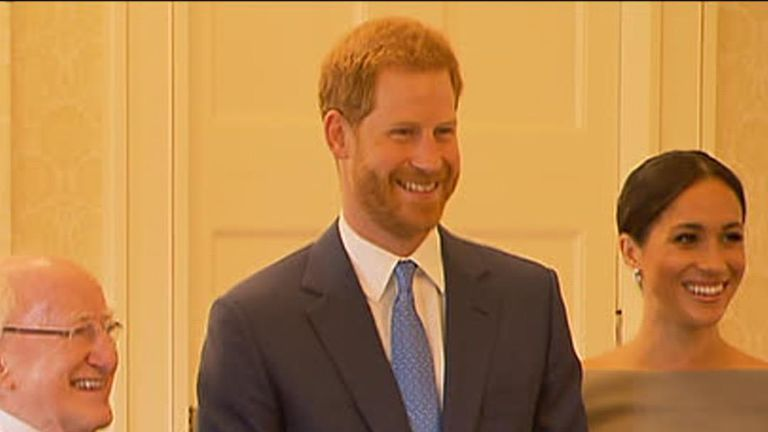 Prince Harry is asked if football is coming home ahead of England's semi-final clash against Croatia
