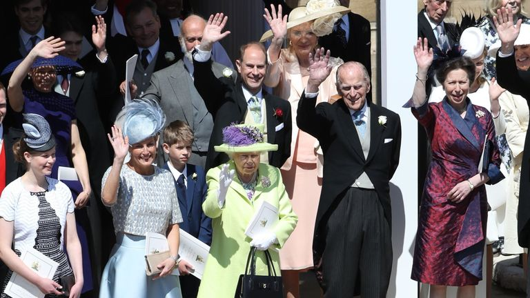 The Royal family at the wedding of Prince Harry and Meghan Markle