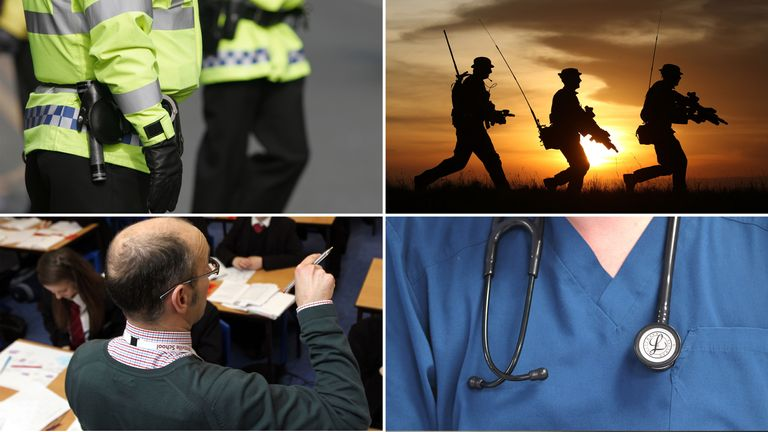 Police, armed forces personnel, teachers and doctors are among those set to benefit