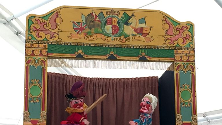 A traditional Punch and Judy show