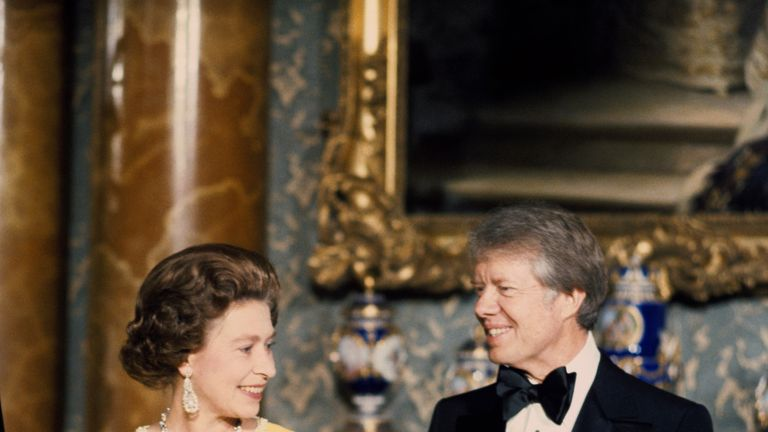 Jimmy Carter upset the Queen Mother bu kissing her on the lips