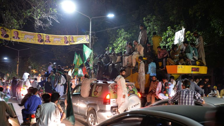 A rally led by Shahbaz Sharif, Nawaz's younger brother and the head of Pakistan Muslim League-Nawaz (PML-L) party, in Lahore