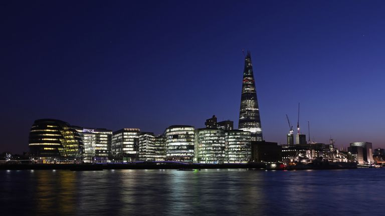 The couple went for a meal at the shard before taking the boat