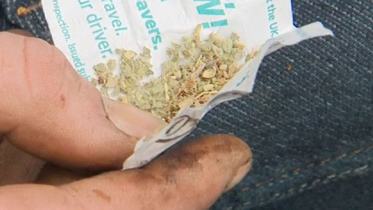 The former legal high Spice was traced in 60% of the positive cases