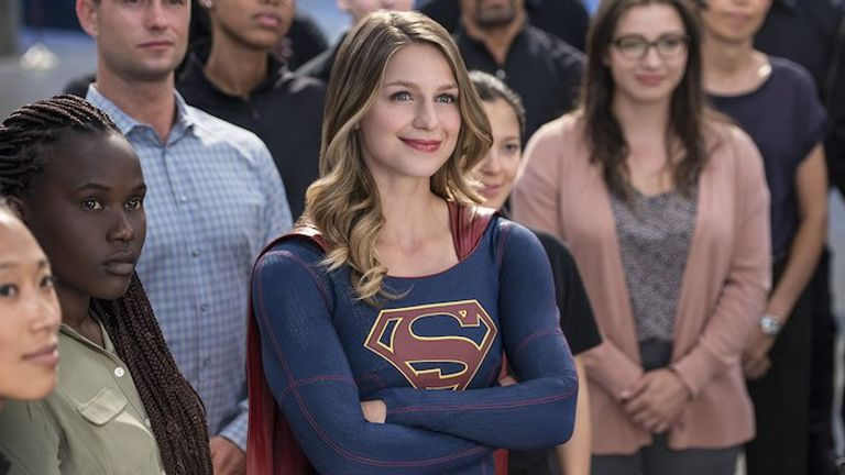 Supergirl is based on the DC Comics series of the same name. Pic: Sky One.