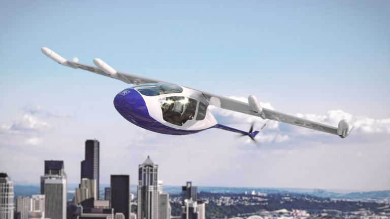 The vertical take off could enable flying taxis