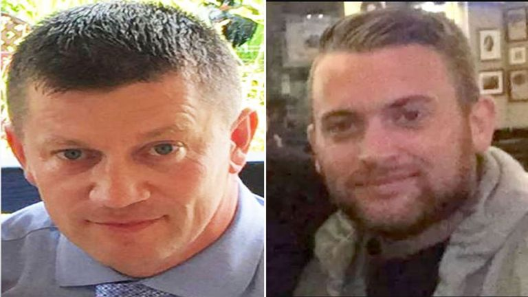 Murdered PC Keith Palmer (left) and London Bridge terror attack hero PC Charlie Guenigault (right)