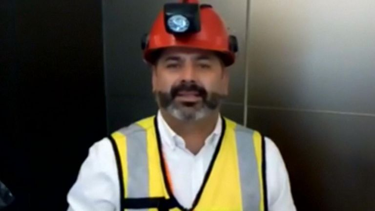 Rescued Chilean miner, Mario Sepulveda