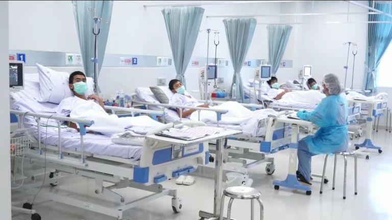 The boys are recovering in hospital