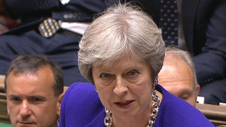 Theresa May raises the issue of anti-Semitism  in PMQs